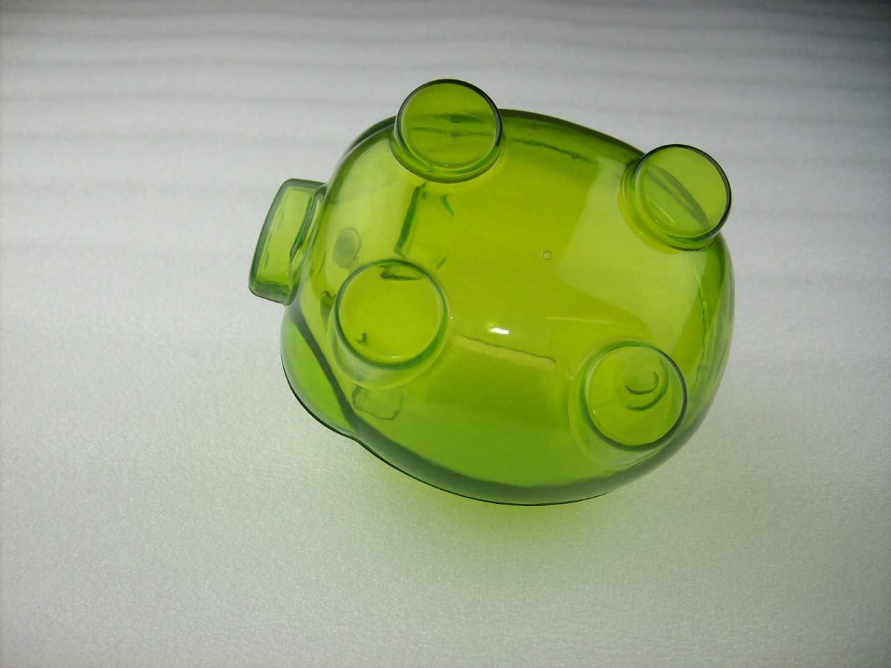 Mini Transparent Plastic Coin Pig Piggy Money Bank Green Without Stopper Ebay