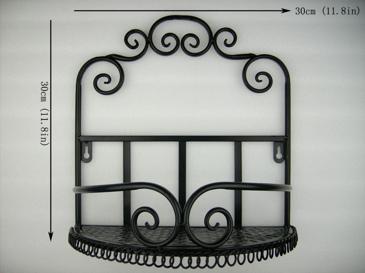design iron bathroom toilet decorative wall shelf storage rack