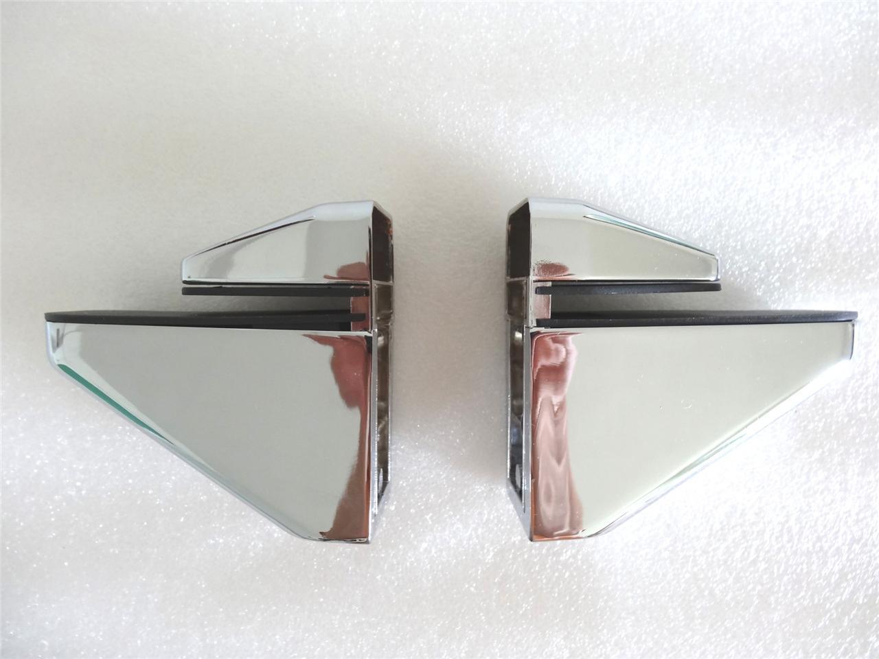 pair of big metal adjustable shelf holder bracket for glass or wood shelves ebay. Black Bedroom Furniture Sets. Home Design Ideas