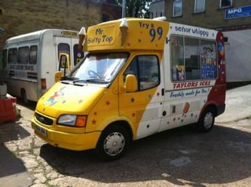 ford transit soft ice cream vans on ebay. Black Bedroom Furniture Sets. Home Design Ideas