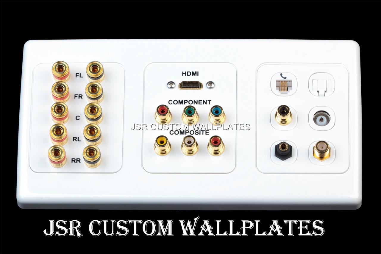 how to connect receiver to wall plate