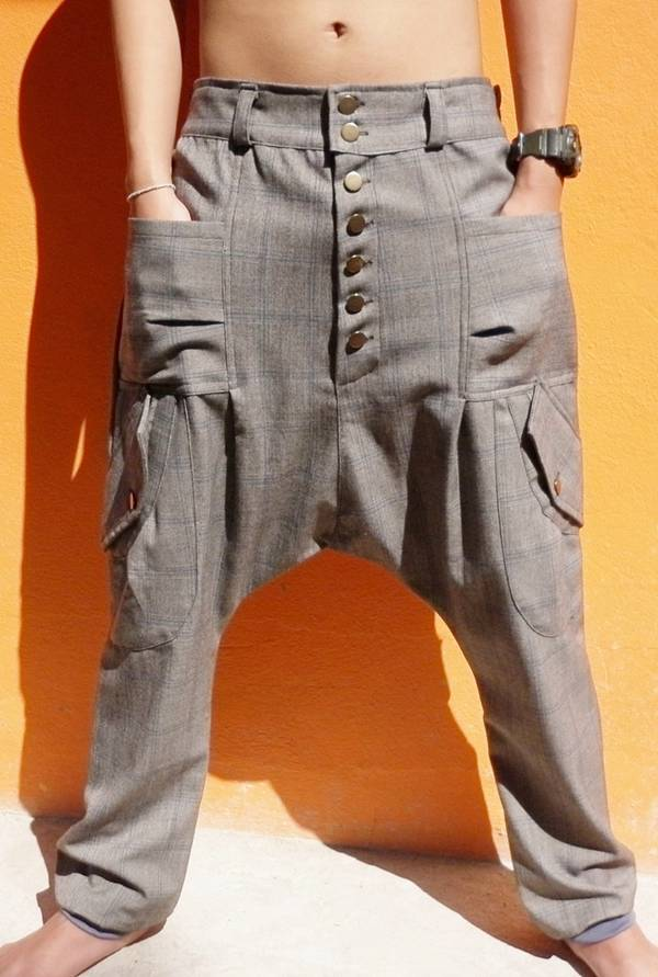 men women harem drop crotch baggy chic hippie hip hop indie chino pants trousers. Black Bedroom Furniture Sets. Home Design Ideas
