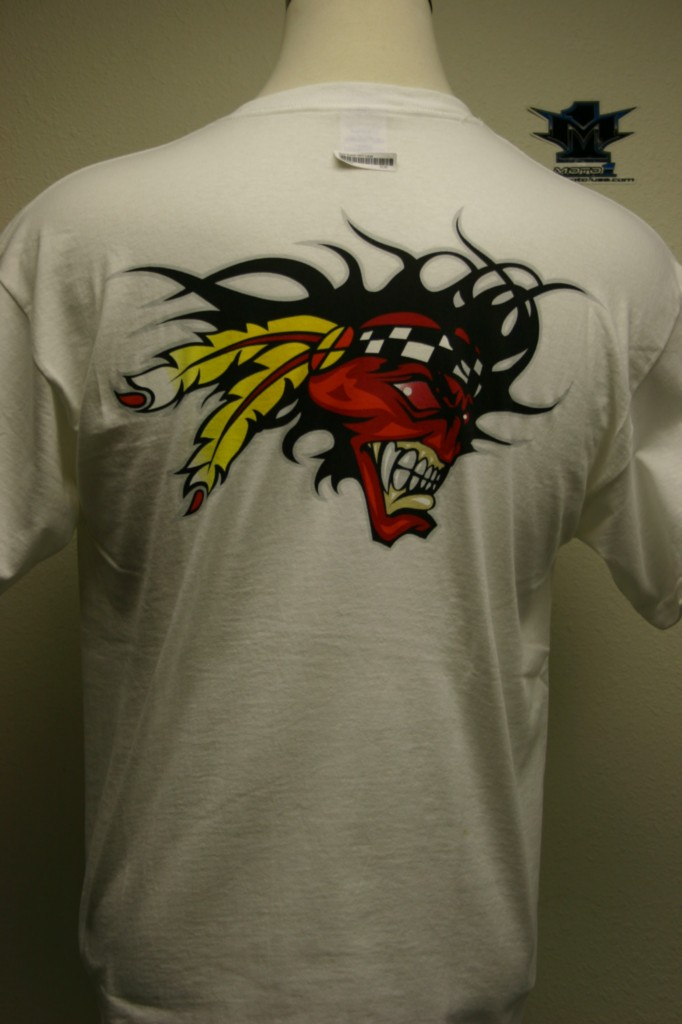 Scott-Russell-Screaming-Chief-T-Shirt-White-Sm-Med-NWT