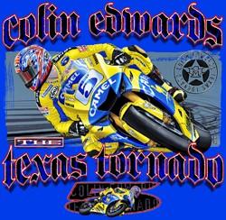 Colin-Edwards-MotoGP-Yamaha-Texas-Tornado-Royal-Blue-T-S-M-L