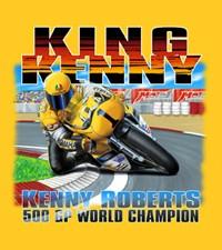 King-Kenny-Roberts-Moto-GP-T-shirt-Yellow-Sm-Med-NWT
