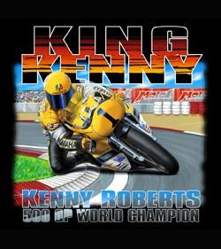 King-Kenny-Roberts-Moto-GP-T-shirt-Black-L-XL-3X