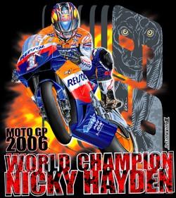 Nicky-Hayden-Motogp-World-Champ-Black-T-Shirt-Sm-Med