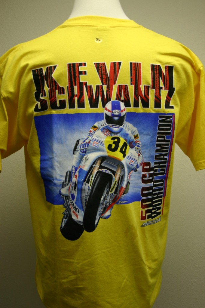 Kevin-Schwantz-Moto-GP-T-shirt-Yellow-L-XL-2X-NWT