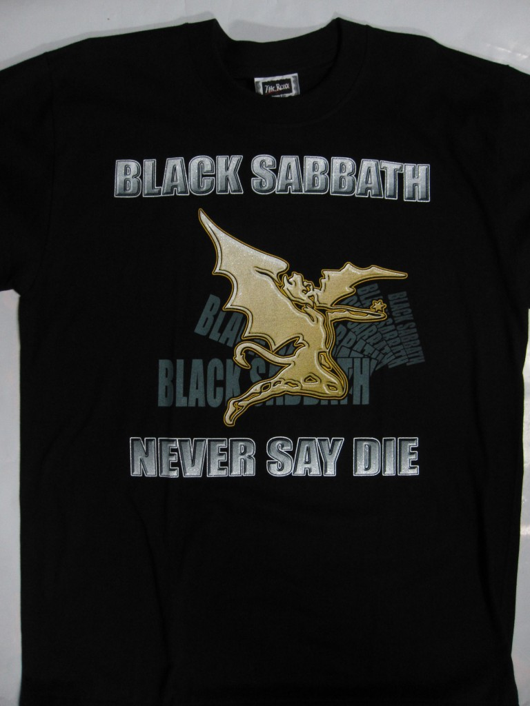 BLACK SABBATH   NEVER SAY DIE T SHIRT
