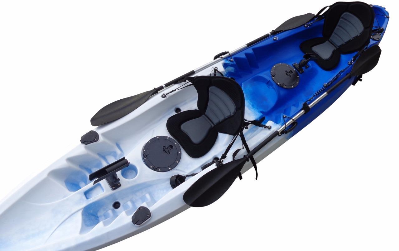 Double kayak single fishing kayak tandem 2 two seat kayak for Double fishing kayak