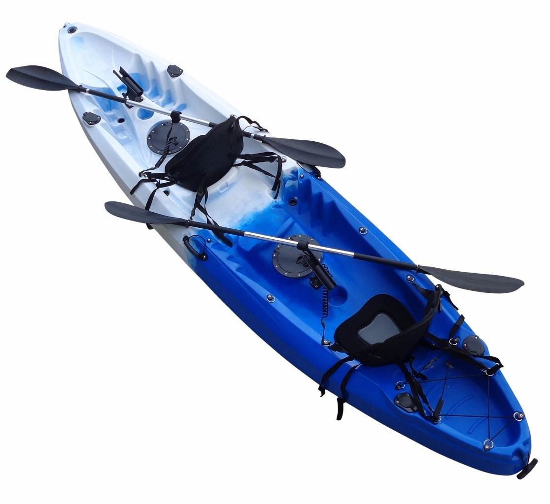 Double kayak single fishing kayak tandem 2 two seat kayak for Best tandem fishing kayak