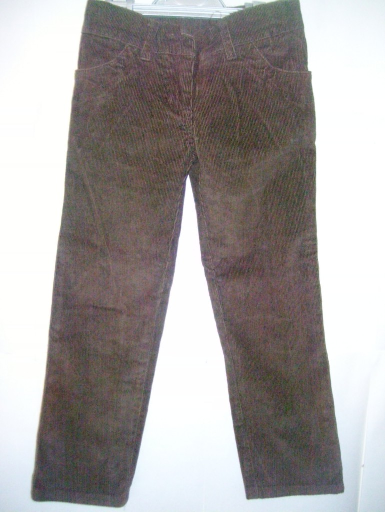 Girls-brown-cord-straight-leg-trousers-new-without-tags-ages-3-4-and-11-yr