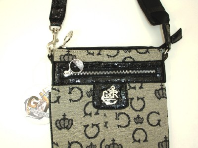 Cross Body Evening Bags on Giovani Rucci  Cross Body Bag G10608 Gray Black   Ebay