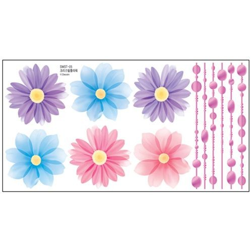 FLOWER Adhesive Removable Wall Home Decor Accents Stickers Decals