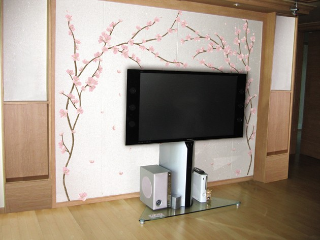 CHERRY BLOSSOM Tree Adhesive Removable Wall Decor Accents Sticker