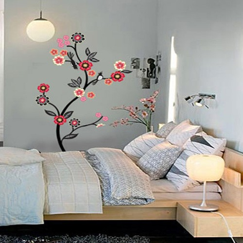 Flowering Tree Adhesive Removable Wall Home Decor Accents Stickers
