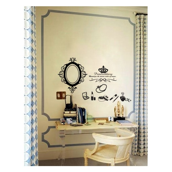 PRINCESS DIARY Adhesive Removable Wall Decor Accents GRAPHIC Stickers