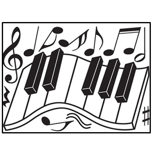 Piano Keys Adhesive Removable Wall Decor Accents GRAPHIC Stickers