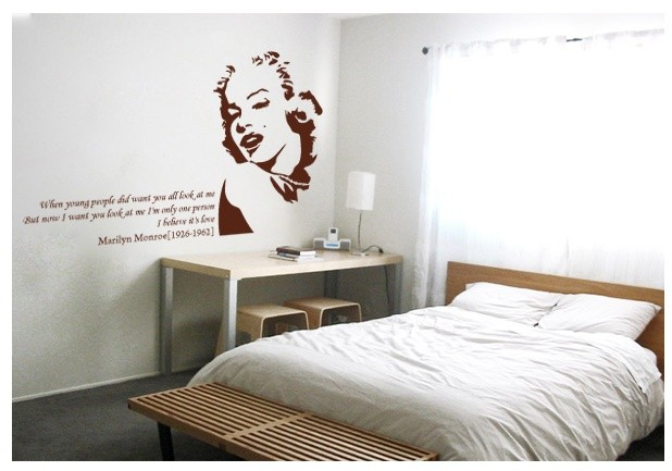 Marilyne Monroe Adhesive WALL STICKER Removable Decal