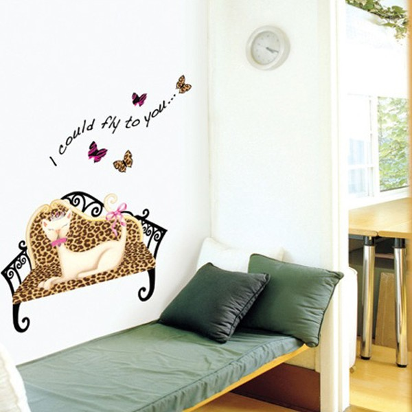Cat Queen Adhesive Removable WALL Decor STICKERS Decals