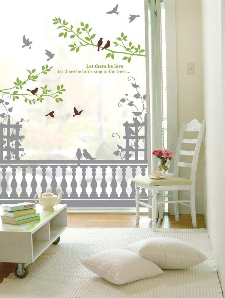 BIG Morning Calm Adhesive Wall Decor Accents Graphic Stickers Decals