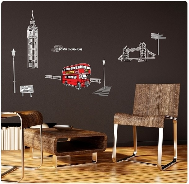 love London Adhesive Removable Wall Decor Accents Stickers Decals