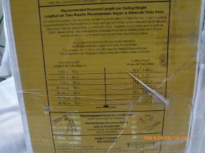 "Hampton Bay 791647 Gazebo Indoor Outdoor 52"" Ceiling Fan Natural Iron Black 442E"