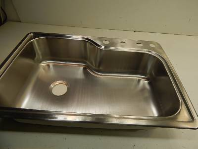 glacier bay all in one top mount stainless steel 33x22x8 kitchen sink