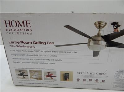 Home decorators 458301 large room windward iv ceiling fan Home decorators windward iv