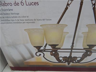 Home Decorators Collection 517639 6 Light Chandelier