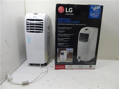lg lp0815wnr 8000 btu hr portable air conditioner 589116 wwall ebay. Black Bedroom Furniture Sets. Home Design Ideas