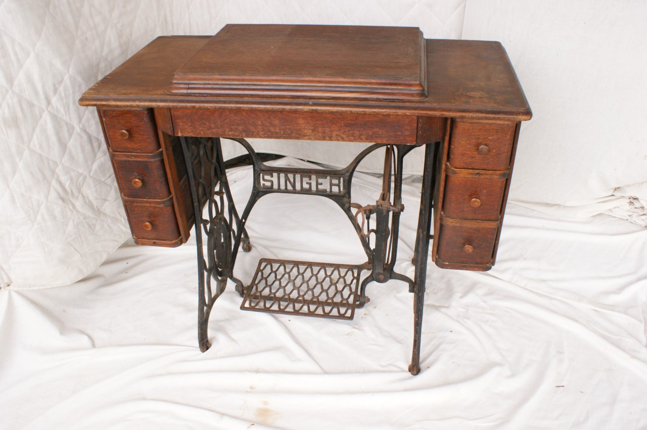 Vintage Singer Treadle Sewing Machine Auctions Buy And