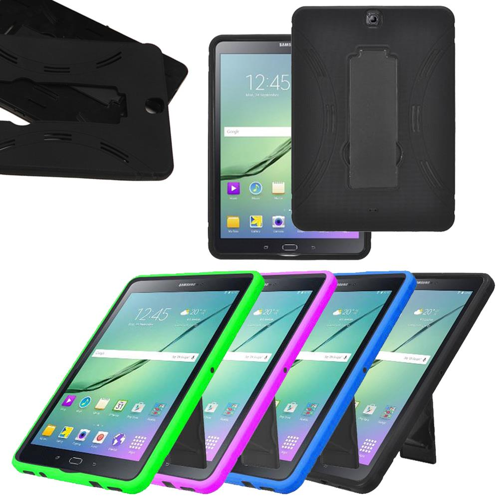 hybrid rubber shockproof protective case for samsung galaxy tab s2 9 7 tablet ebay. Black Bedroom Furniture Sets. Home Design Ideas