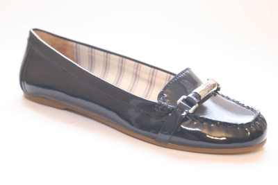 Details about COACH Berdina Midnight Patent Leather Moc Loafer Women