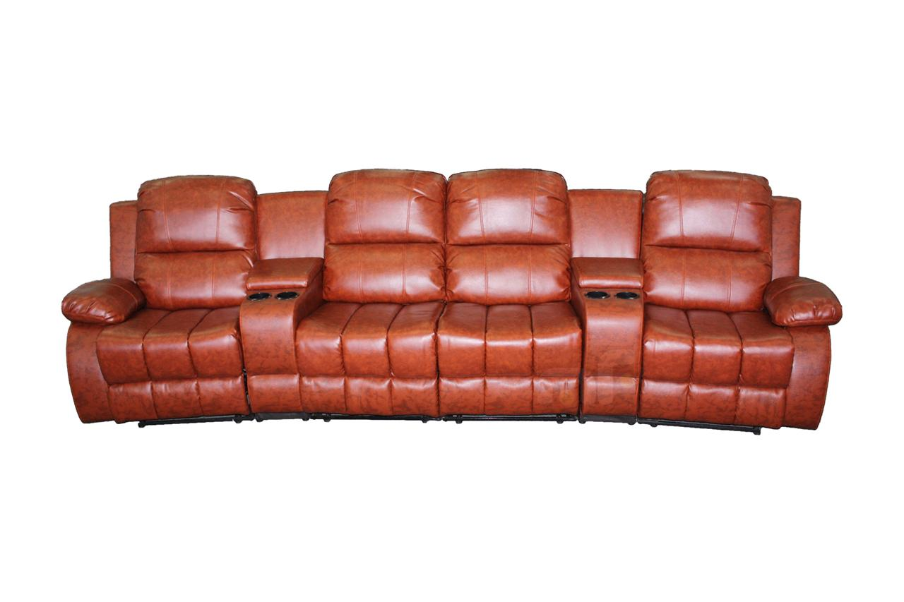 4 Seater Recliner Lounge Sofa Leather Couch Home Theater