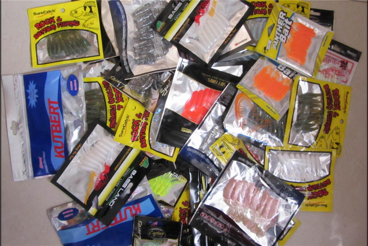 50 x bulk assorted soft plastics lures packs, fresh &amp, Soft Baits