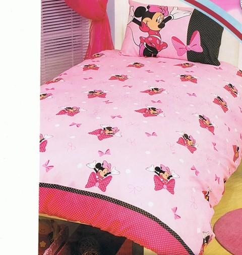 Disney-Minnie-Mouse-Bow-tique-Single-Twin-Bed-Quilt-Doona-Duvet-Cover-Set