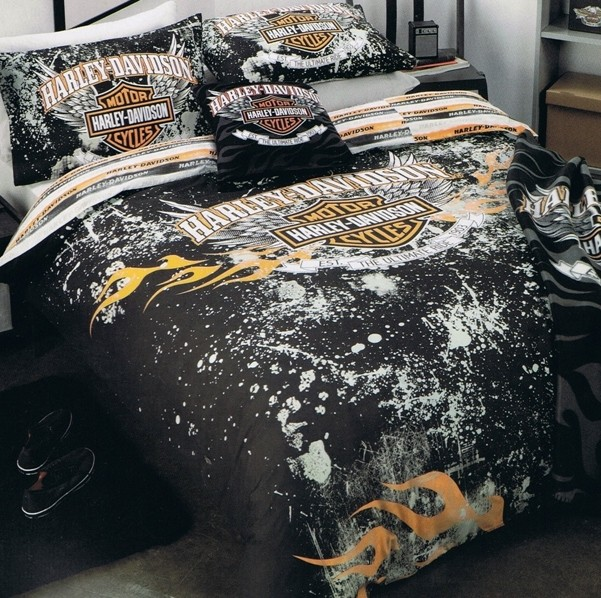 Harley-Davidson-Ultimate-Ride-Single-Bed-Quilt-Doona-Duvet-Cover-Set-NEW