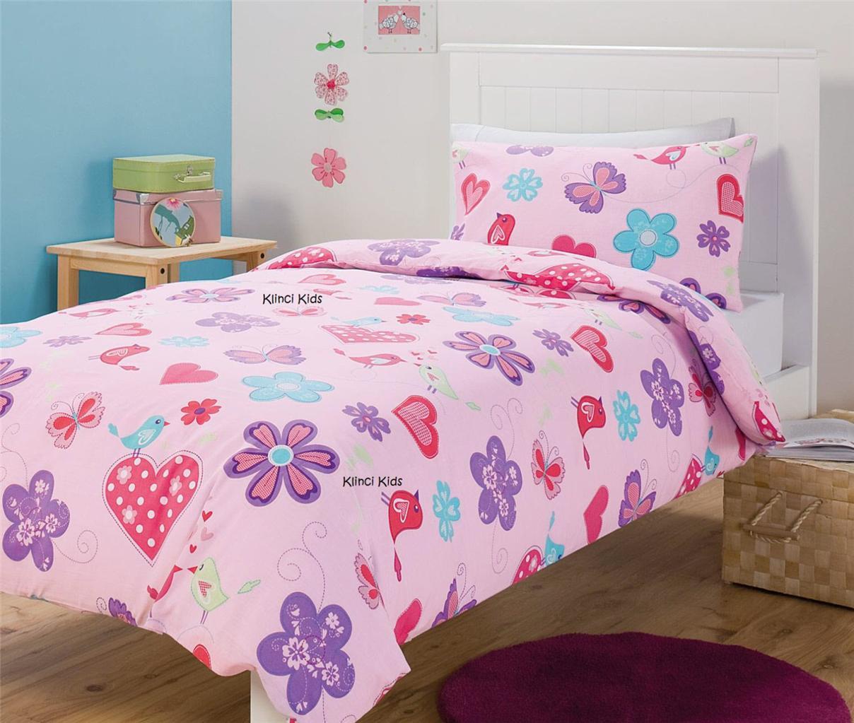 love lee pink orange black silver hearts single bed quilt duvet cover set 9344059077943 ebay. Black Bedroom Furniture Sets. Home Design Ideas