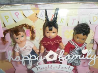 BARBIE HAPPY FAMILY BABY FRIENDS DOLL SET BIRTHDAY 2003