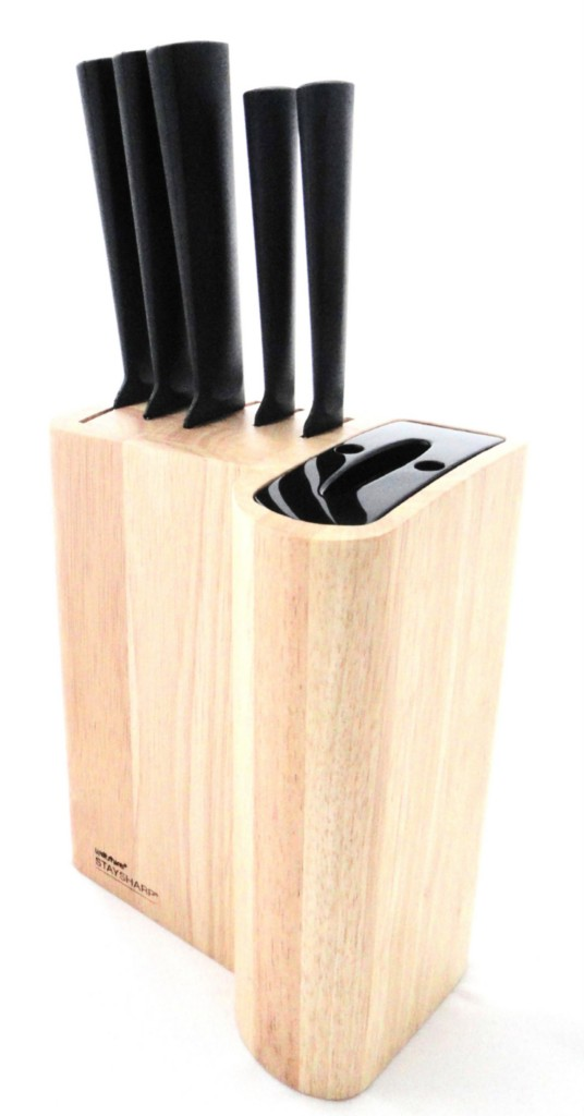 wiltshire staysharp 6 pce knife block set sharpener ebay. Black Bedroom Furniture Sets. Home Design Ideas