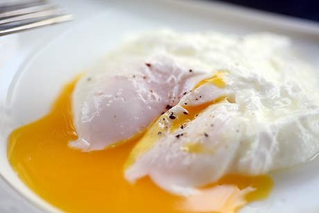 ... egg cups will help to ensure that your poached eggs hold together well