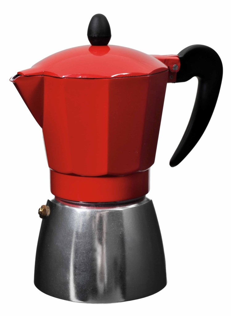 new 6 cup espresso maker red italian coffee stovetop cooktop kettle cappuccino ebay. Black Bedroom Furniture Sets. Home Design Ideas