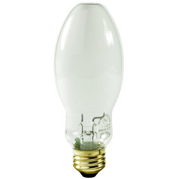 mercury vapor coated light bulb 100w medium e26 base ansi h38 mv100 dx. Black Bedroom Furniture Sets. Home Design Ideas