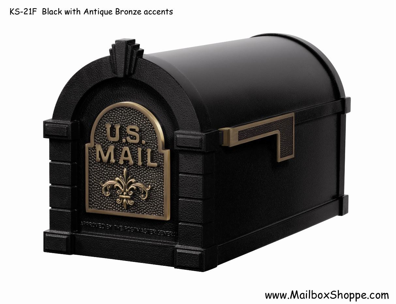 Aluminium Mail Box : Keystone fleur de lis mailbox gaines cast aluminum mail
