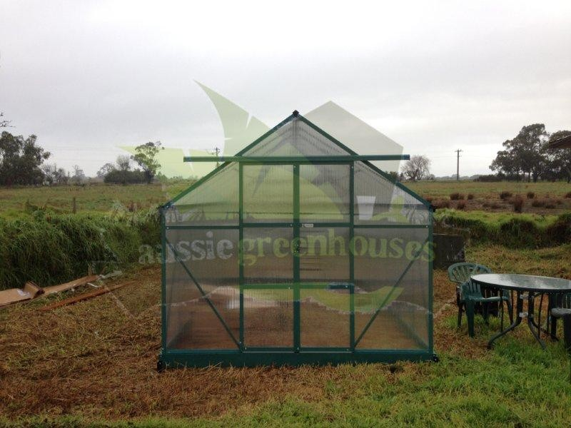6mm Polycarbonate Aluminium Garden Greenhouse Shade Green