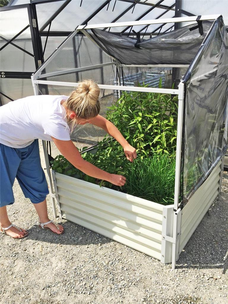 Greenhouse raised diy garden bed with dual cover x Raised garden bed covers