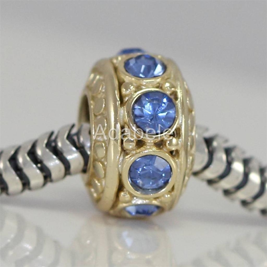 Gold Plated Silver Antique Beads: U Pick 1 Gold Plated Sterling Silver Charm Birthstone