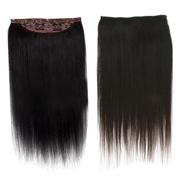 Full Head One Piece Clip In 100 Human Hair Extensions