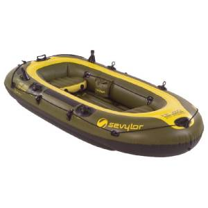 New sevylor fish hunter inflatable 4 person boat 9 39 x 4 for 4 person fishing boat